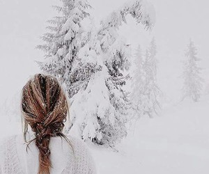 snow, winter, and braid image