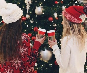 christmas, friends, and starbucks image