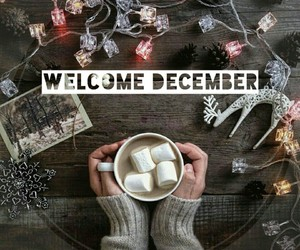 chocolate, december, and marshmallow image