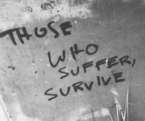 quotes, survive, and art image