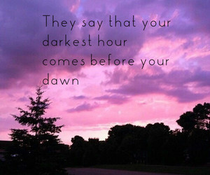 pink sky, quote, and saying image