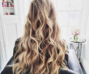curly, hairstyle, and waves image