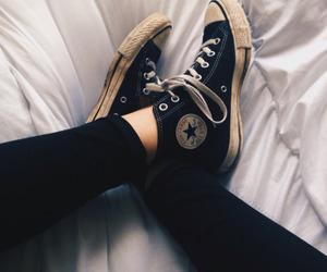 converse, black, and fashion image