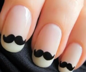 mustache, awesome, and nails image