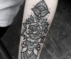 black ink, Poland, and tattoo art image
