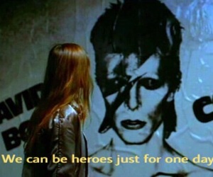 Christiane F, david bowie, and heroes image