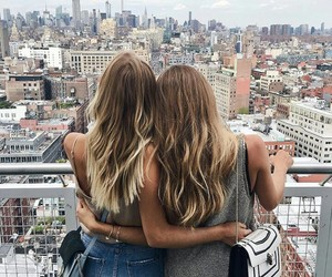 girl, hair, and best friends image