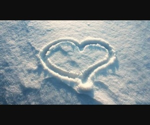 heart snow winter cold image