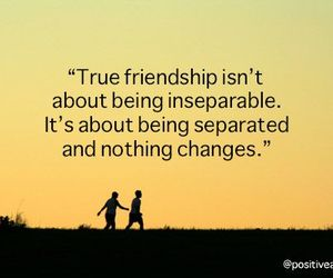 distance, friendship, and quotes image