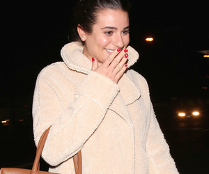 candid and lea michele image