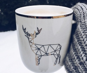 coffee, cosy, and snow image
