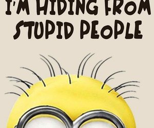 hiding, people, and minion image