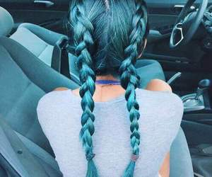 beautiful, blue, and braid image