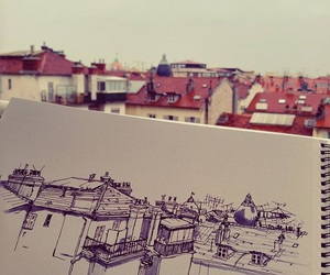 art, building, and sketch image