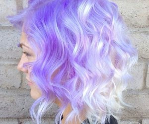 hair, purple, and wow image
