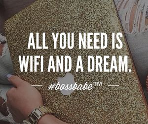 quotes, wifi, and goals image