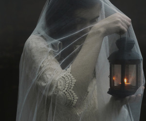 fire, photo, and veil image