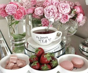 chocolate, pinkrose, and cup image