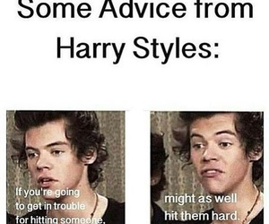 Harry Styles, one direction, and advice image