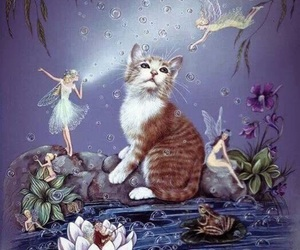 cat, faery, and fantasy image