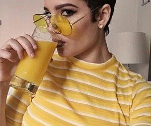 halsey, yellow, and aesthetic image