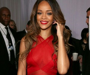 rihanna, red, and grammys image
