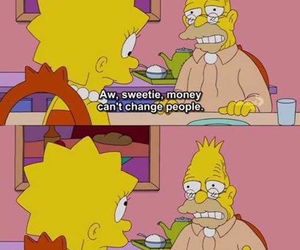 money, simpsons, and the simpsons image
