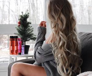 blonde, winter, and blonde hair image