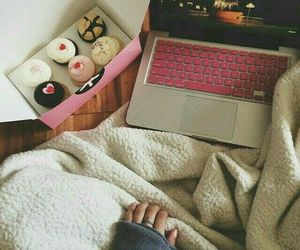 donut, laptop, and mac image