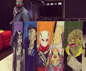 chris brown and suicide squad image