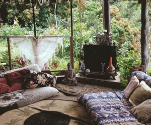 nature, boho, and home image
