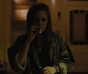 kristen stewart, smoke, and cigarette image