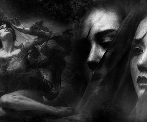 dark, woman, and gothic image