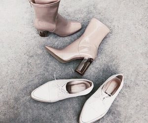 boots, grey, and rose gold image