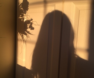 girl, shadow, and aesthetic image
