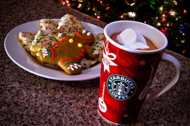 coffee, december, and starbucks image