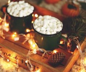 light, christmas, and autumn image