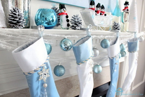 christmas, blue, and snowman image