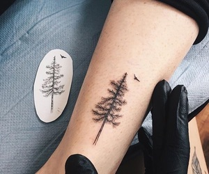 tattoo, tree, and art image