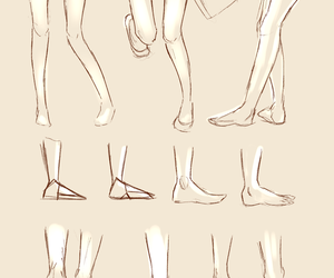 drawings, how to draw feet, and legs image
