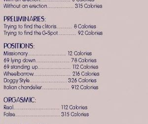 sex, EXCERCISE, and calorie counter image