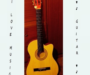 guitar, music, and i love music image