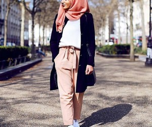 casual, outfits, and hijab image