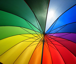 rainbow and umbrella image