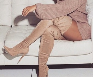 beige, boots, and goals image
