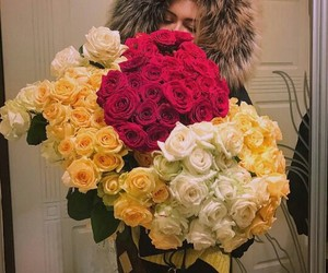 beautiful, flowers, and fur image