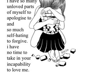 depression, quotes, and unlove image