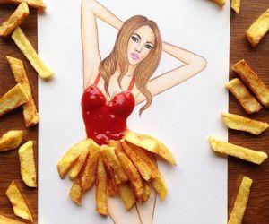 art, food, and ketchup image