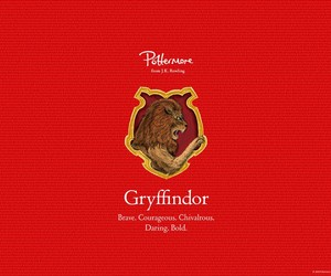 gryffindor, harry potter, and pottermore image