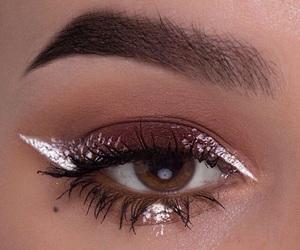 eyeliner, brows, and eyeshadow image
